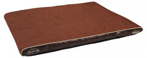 Guіvieta suņiem - Scruffs Hilton Memory Foam Orthopaedic, 100*70*6cm, chocolate