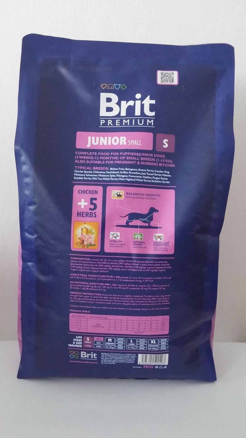 Корм для собак - BRIT Premium Junior S, 1kg