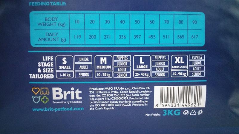 Barība suņiem - BRIT Premium Lamb & Rice, 3kg