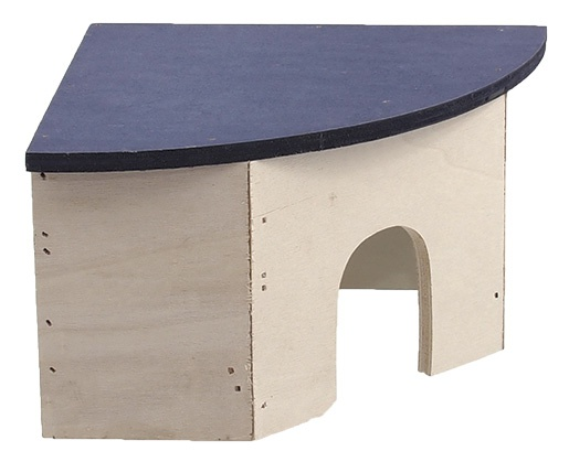 Koka māja (stūra) grauzējiem - Mājiņa  SMALL ANIMAL  24 x 17 x 10,5 cm