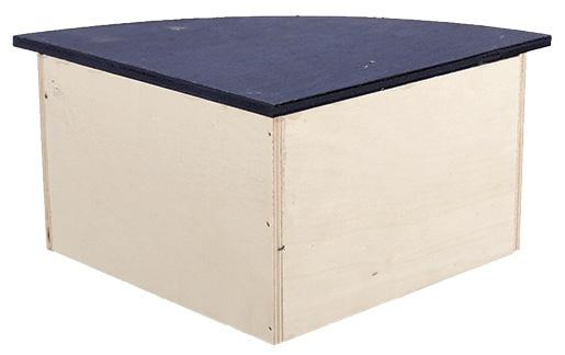 Угловой деревянный домик для грызунов - Домик SMALL ANIMAL  33 x 23,5 x 13 cm