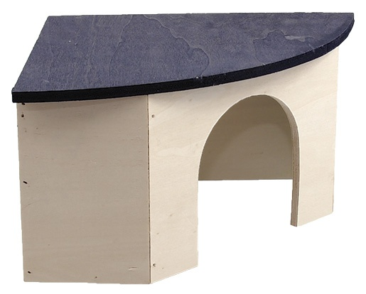 Koka māja (stūra) grauzējiem - Mājiņa  SMALL ANIMAL  33 x 23,5 x 13 cm