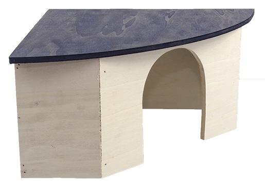 Угловой деревянный домик для грызунов - Домик SMALL ANIMAL 42 x 29,5 x 15 cm