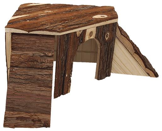 Koka māja grauzējiem - Mājiņa  SMALL ANIMAL Klouzanka 25 x 25 x 15 cm