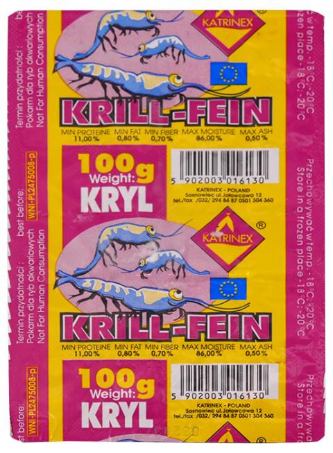 Замороженный корм для рыбок - Katrinex Krill 100g