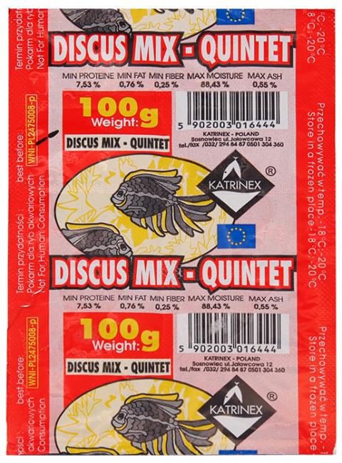 Saldēta barība zivīm - Katrinex Diskus mix 100g