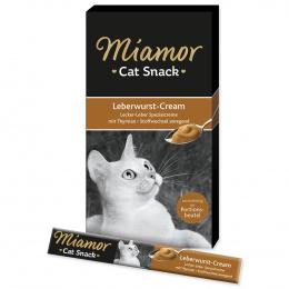Gardums kaķiem - Miamor Liver Pate Cream, 6 x 15 g