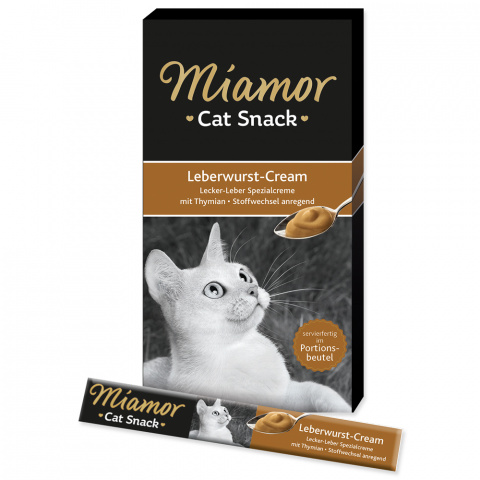 Лакомство для кошек - Miamor Liver Pate Cream, 6 x 15 г title=