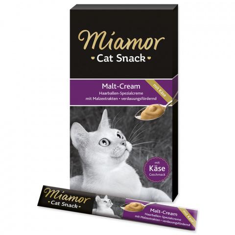 Лакомство для кошек - Miamor Malt Cream с сыром и солодом, 6*15 г