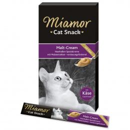 Лакомство для кошек - Miamor Malt Cream с сыром и солодом,  6*15 гр.