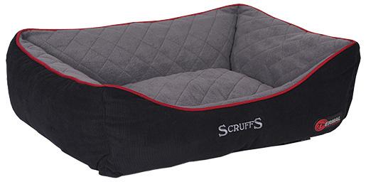 Guļvieta suņiem - Scruffs Thermal Box Bed (XL), 90 х 70 cm, melna