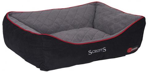 Guļvieta suņiem - Scruffs Thermal Box Bed (XL), 90*70cm, melna