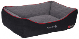Guļvieta suņiem - Scruffs Thermal Box Bed (XL), 90*70cm, melna