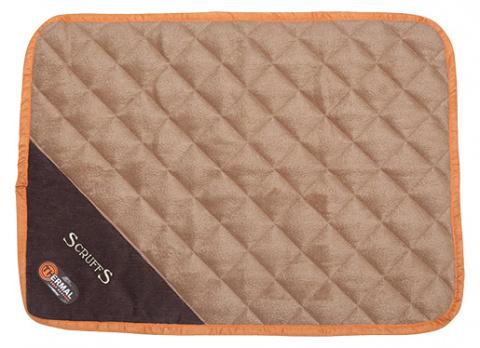 Sildoša guļvieta dzīvniekiem - Scruffs Thermal Mat (XS), 60*45*1 cm, tan