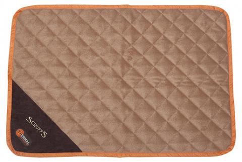 Обогревающая спальное место для животных - Scruffs Thermal Mat (S), 75 x 52 x 1 cm, коричневый/бежевый title=