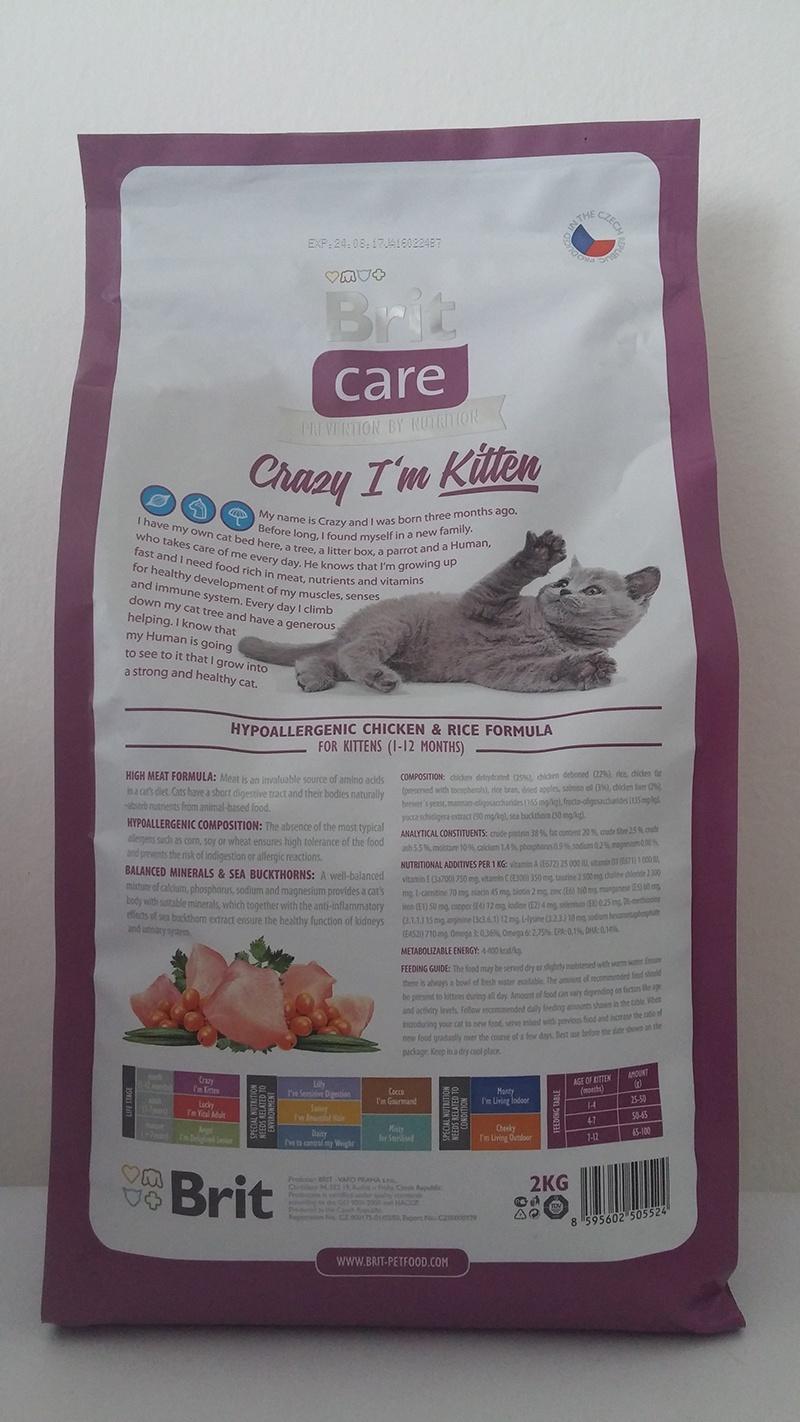 Barība kaķiem - Brit Care Cat Crazy I'm Kitten,ar vistas gaļu un rīsiem, 400 gr