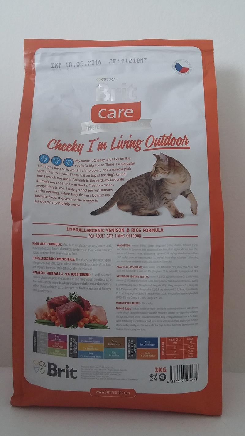 Barība kaķiem - Brit Care Cat Cheeky I'm Living Outdoor, ar brieža gaļu un rīsiem, 2 kg
