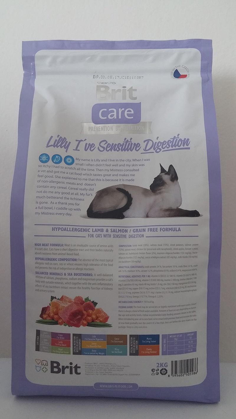 Корм для кошек - Brit Care Cat Lilly I've Sensitive Digestion,  баранина и лосось, 2 kg