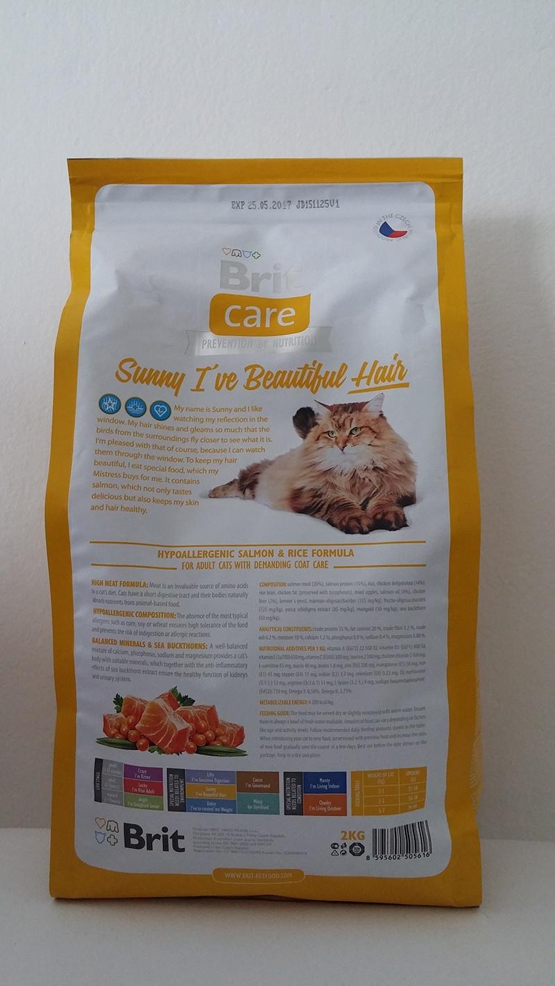 Корм для кошек - Brit Care Cat Sunny I've Beautiful Hair, лосось и рис, 400 gr
