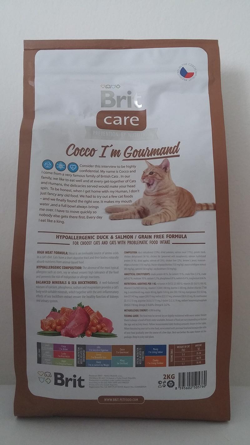 Корм для кошек - Brit Care Cat Cocco I'am Gourmand, утка и лосось , 400 gr