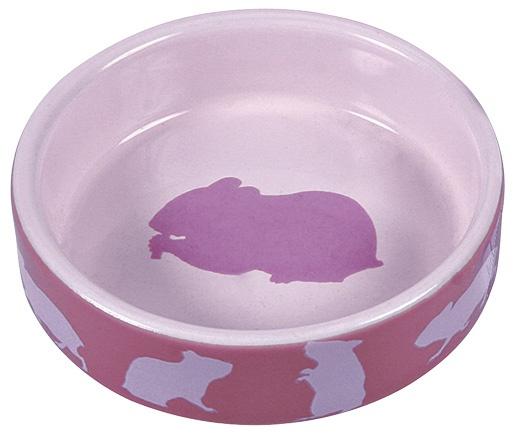 Керамическая миска для грызунов - Trixie с рисунками, «Хомяк», 80 мл
