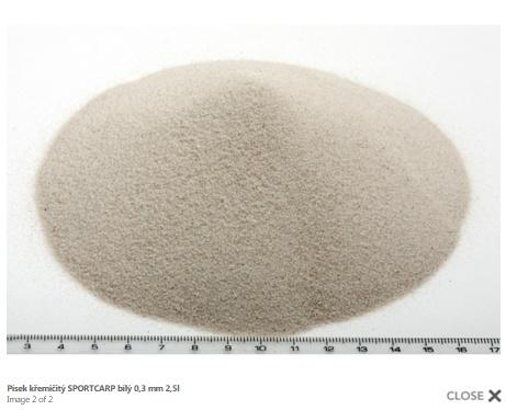 Grunts akvārijam - baltas smiltis 0,3mm 3,3kg