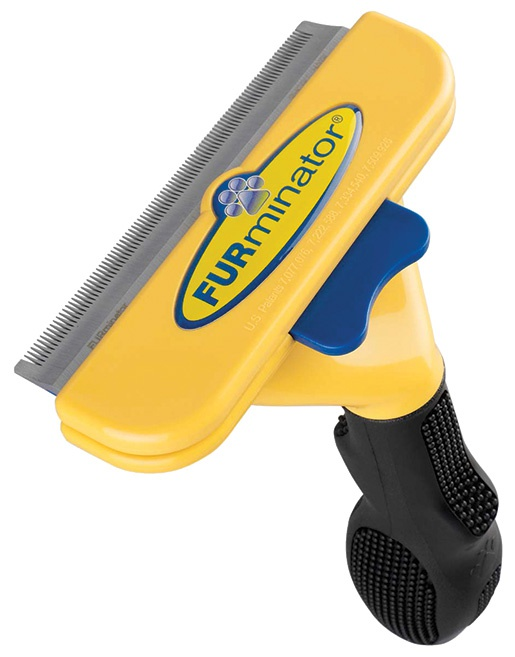 Расческа-фурминатор для собак - FURminator deShedding tool, для короткой шерсти, L + Безводный спрей