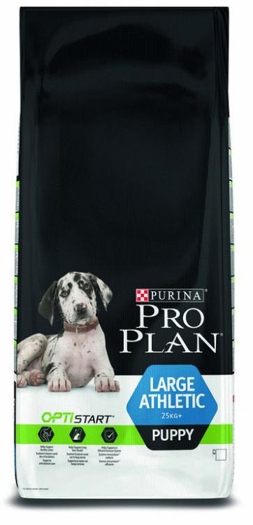 Barība kucēniem - Pro Plan Large Athletic Puppy Chicken, 12 kg