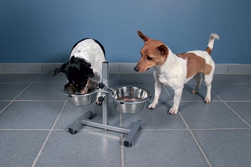 Штатив с мисками - Trixie Bowl Stand with 2 bowls, 2 x 0,75 л