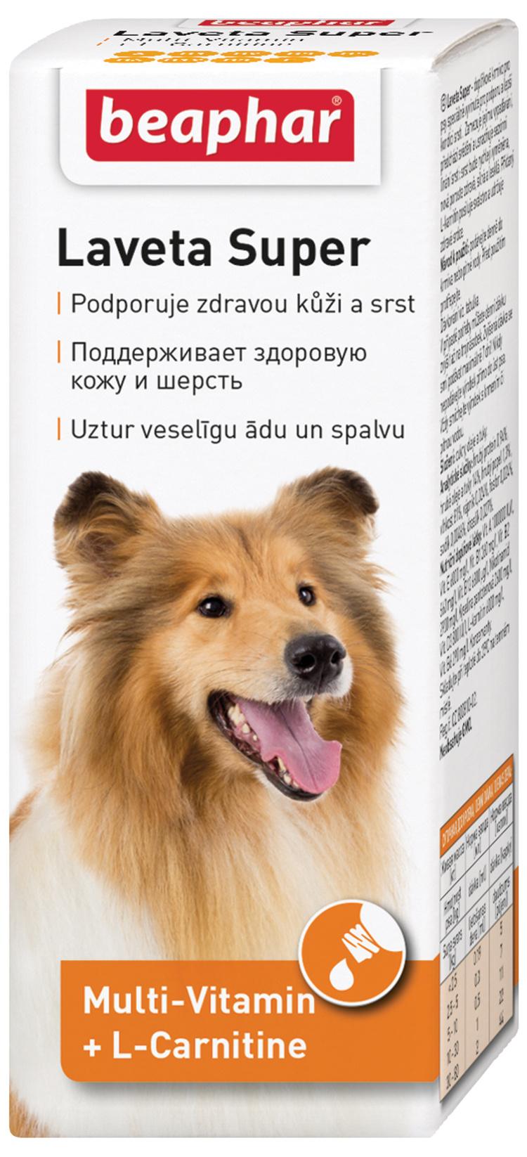 Barības piedeva suņiem - Beaphar Laveta Super, 50 ml