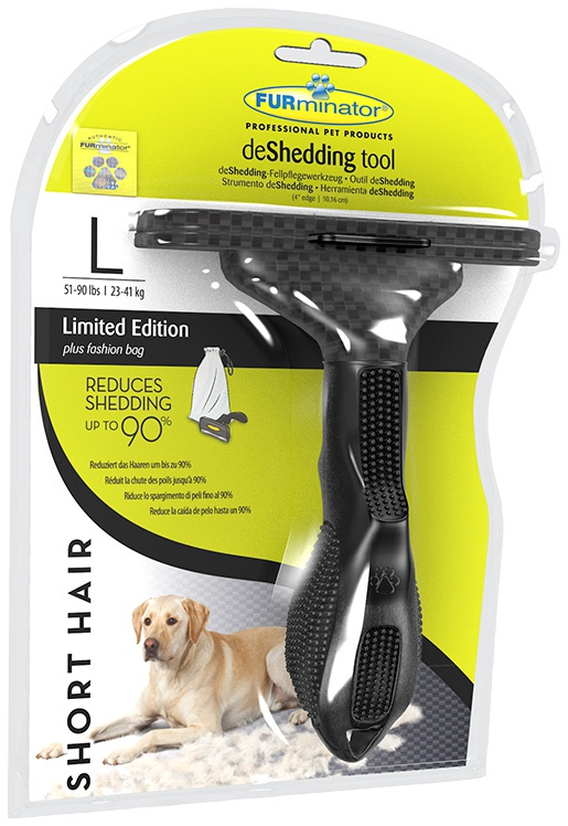 Ķemme suņiem - FURminator deShedding tool Limited Edition, hair short, L