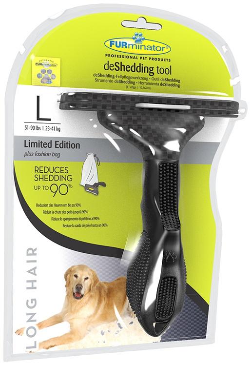 Ķemme suņiem - FURminator deShedding tool Limited Edition, hair long, L