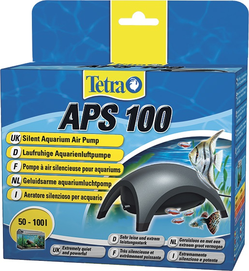 Компрессор для аквариума - Tetra tec APS 100, черный