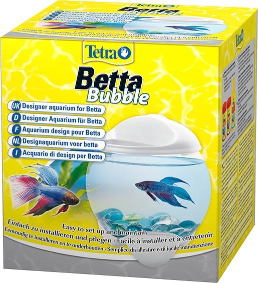 Akvārijs - Tetra Betta Bubble, 1.8l, balts