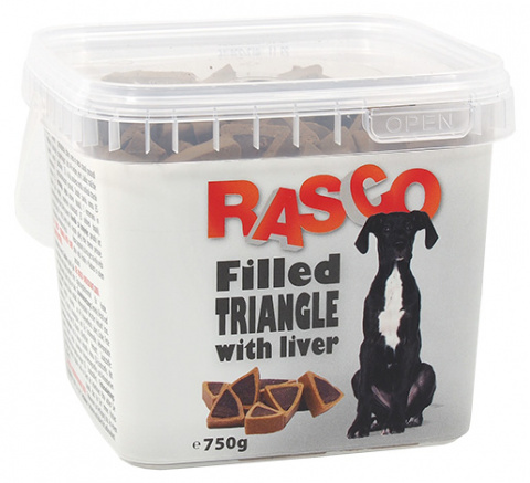 Лакомство для собак - Rasco Triangle filled with liver, 750g
