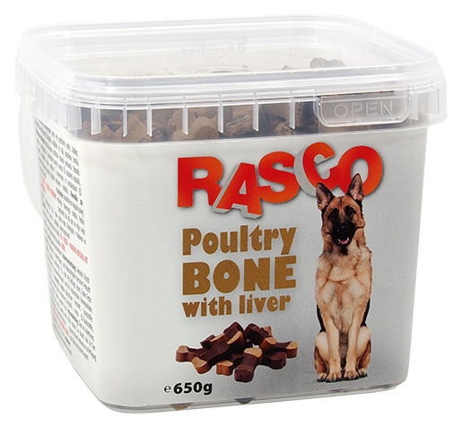 Gardums suņiem - Rasco Poultry Bone with liver, 650 g