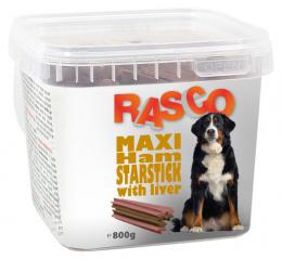 Gardums suņiem – Rasco Maxi Ham Starsticks with liver, 800 g