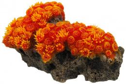Dekors akvārijam - Aqua Excellent, Sea Coral, orange, 16 x 9,5 x 7 cm