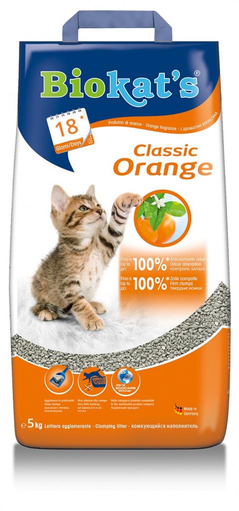 Smiltis kaķu tualetei - Biokat's Natural apelsīns, 5 kg title=
