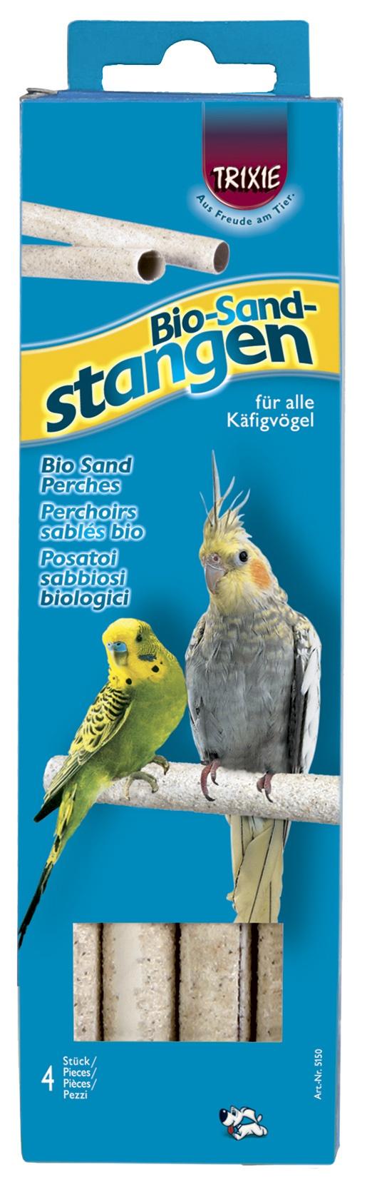 Аксессуар для птичьей клетки - Bio Sand Perches, 19,5cm, 4 шт