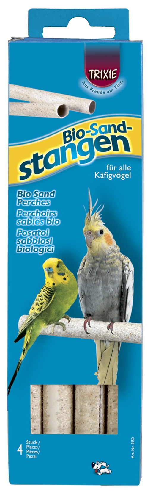 Aksesuārs putnu būrim - Bio Sand Perches, 19,5cm, 4 gab