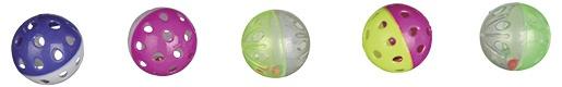 Rotaļlieta kaķiem - TRIXIE Balls and rollers, plastmasa, 4.5 cm / 4 cm
