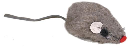 Игрушка для кошек - Мышка с колокольчиком (разных цветов)