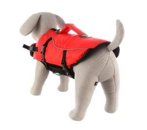 Glābšanas veste / Peldveste suņiem - Trixie Life Vest for dogs, M 44 cm, krāsa - sarkana/melna