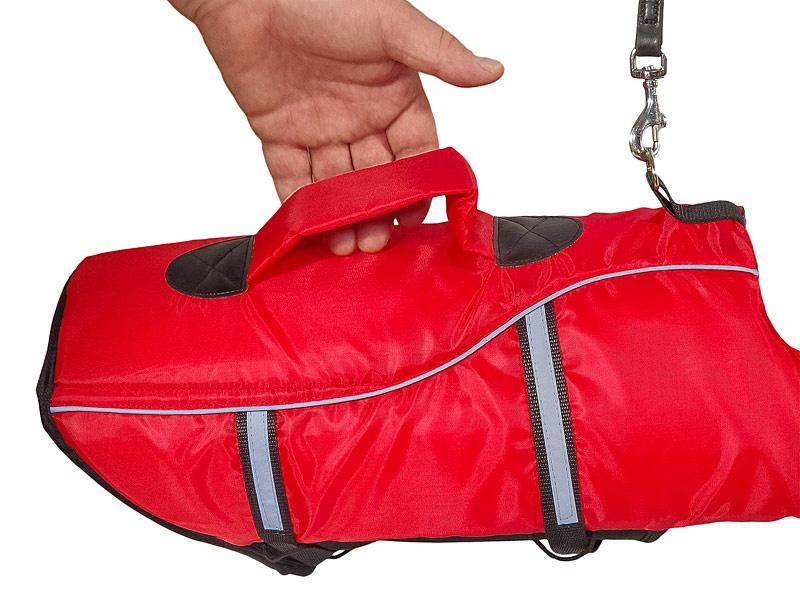 Спасательный жилет для собак - Trixie Life Vest for dogs, M 44 cm, цвет - красный/черный
