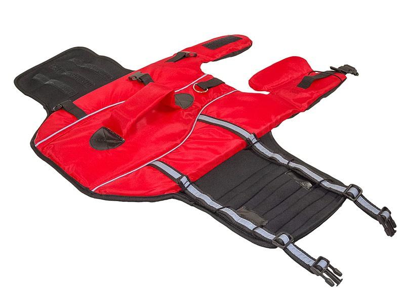 Спасательный жилет для собак - Trixie Life Vest for dogs, 65 cm, красный/черный
