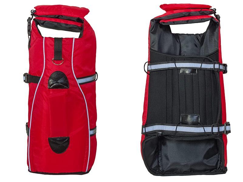 Glābšanas veste / Peldveste suņiem - Trixie Life Vest for dogs, XL 65 cm, krāsa - sarkana/melna