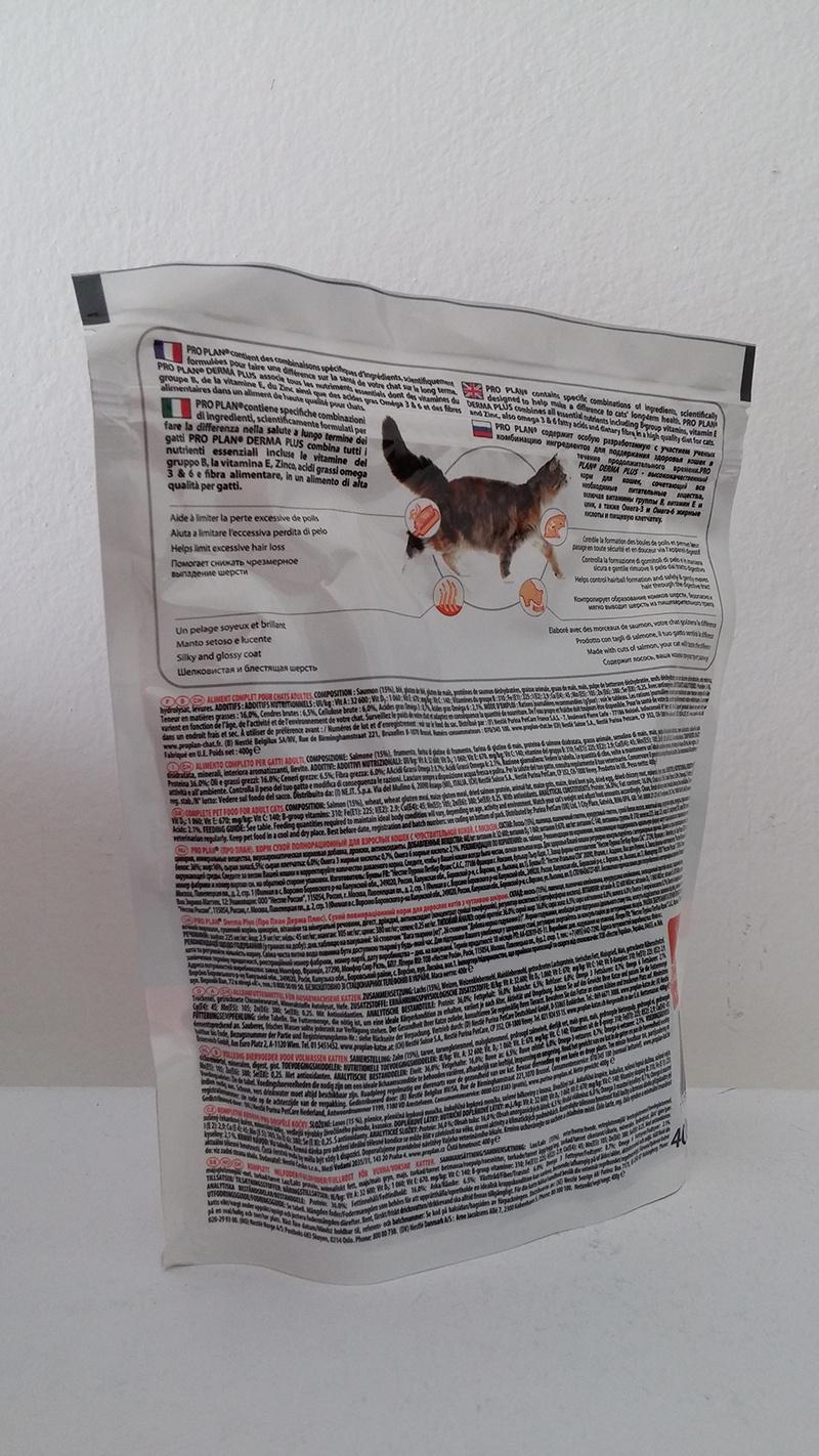 Корм для кошек - Pro Plan ELEGANT Cat DERMA, с лососем, 0,4 кг