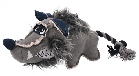 Rotaļlieta suņiem - Dog Fantasy Textile Wolf, 40 cm
