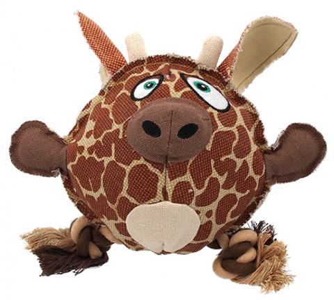Игрушка для собак - Dog Fantasy Textile Giraffe, 24 cm
